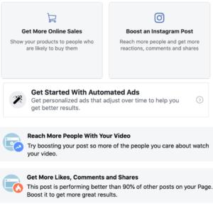 boosting facebook or instagram posts